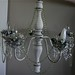 Shabby Chic Chandelier AFTER