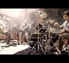 Jamming Session (jazrulfuad) Tags: musician music rock metal carpet keyboard drum bass guitar band jamming foam malaysia sound yamaha jam heavy ltd petaling esp jaya mustaine cymbal dv8 akarkarya dv8r