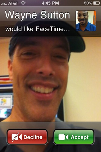 First Time with FaceTime: Wayne Sutton would like FaceTime