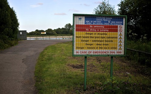 Lisvane Reservoir Entrance Notice