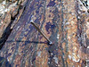 Magnetic, This Rock (subarcticmike) Tags: bif banded iron formation nunavut canada arctic precambrian magnetic rocks geology glaciated lichen rust gossan patina subarcticmike telescoping magnet lee valley tools prospecting course canadianshield glaciation peneplain hudsonbay bedrock outcrop petrology hudson bay permafrost metabasalt magnetforscale penmagnet bandedironformation kivalliq hardrock 2010 wikimedia biffy