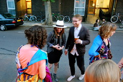 Sarah, Emma, Chris and many scarves (mrlerone) Tags: birthday pub celebration booze charleslamb