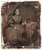 """Ambrotype - girl with stereo viewer and card (union case image #3 with mat and glass removed) • <a style=""""font-size:0.8em;"""" href=""""http://www.flickr.com/photos/24469639@N00/4827462627/"""" target=""""_blank"""">View on Flickr</a>"""