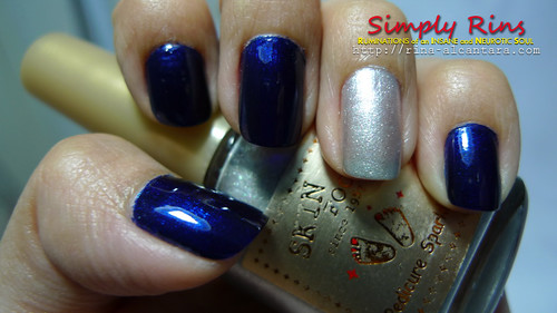 Nail Art Blazing Blue 01