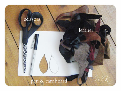 Leather Leaf Necklace Tutorial 2