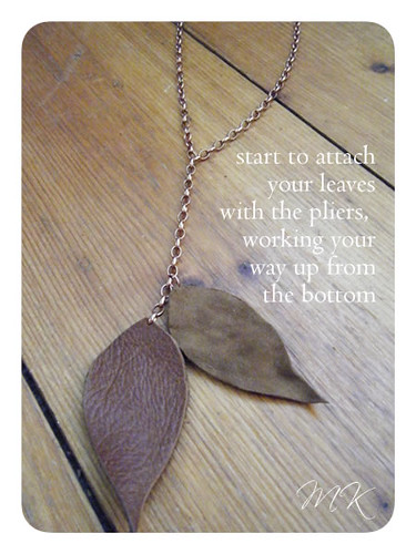 Leather Leaf Necklace Tutorial 11