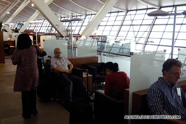 SQ Business Class lounge