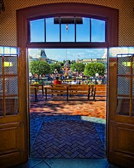 A view onto Main Street (Matt Pasant) Tags: canon landscape day time outdoor disneyland indoor trainstation walt hdr waltdisney mainstreetusa tonemapped imagetype photospecs canonef1635mmf28liiusm canoneos5dmarkii