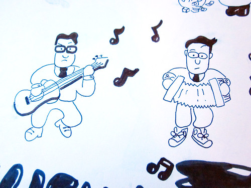 They Might Be Giants artwork from my childhood - John and John.