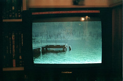 (ole thomas) Tags: old light lake green film nature water television norway 35mm vintage dark death photo tv dream vivitar drowned gjvik xv1 olethomas