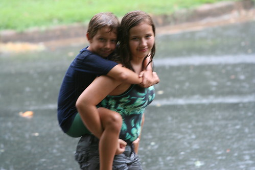 7/29/10 - Playing in the rain.