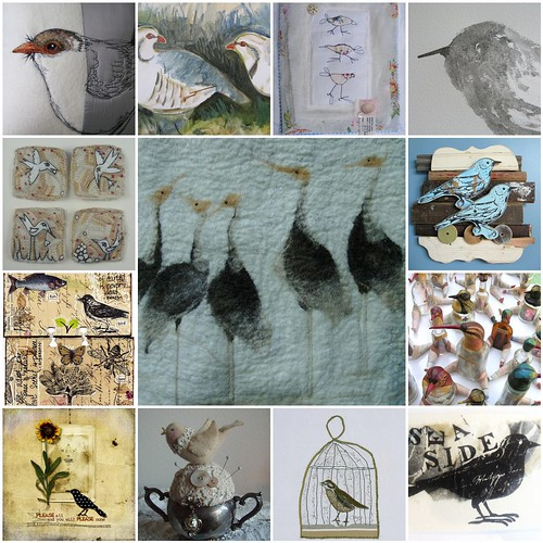 Art BIRDS .. All images are from Flickr Friends