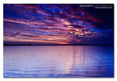 Between a Coffee and a Biscuit. ([ Kane ]) Tags: ocean sunset sky colour water clouds contrast canon reflections landscape photography ship sigma australia brisbane peter qld queensland kane 1020 lik wellingtonpoint gledhill peterlik sigma1020 50d smokeonthewater kanegledhill wwwhumanhabitscomau kanegledhillphotography