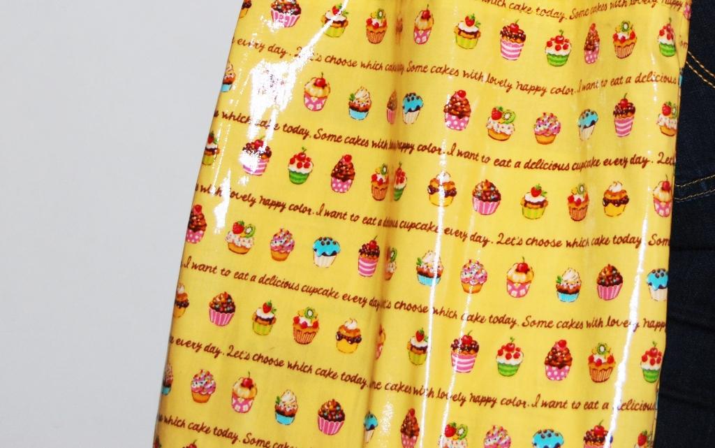 laminated japanese cupcake fabric