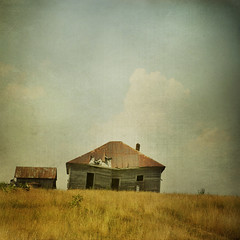 The house on the hill (shuttermeister) Tags: house painterly texture field square nikon jenny textures missouri abandonded layer layers oldhousevintage