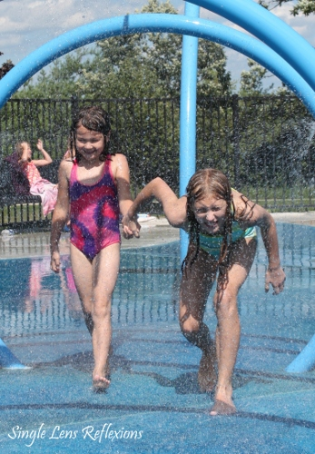 Girls at Splash Pad