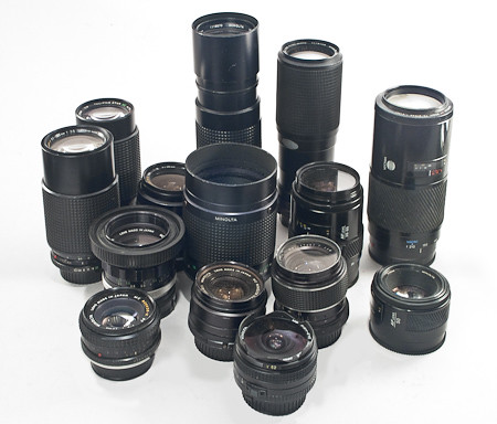 Minolta Lenses for the Sony Alpha