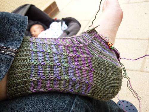 Slip Stitch Socks