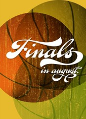Preview of Fan Script (Ale Paul) Tags: sports poster basket balls august finals lettering script swashes sudtipos alepaul