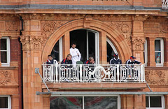The Lords Balcony - May 2009 - You Should See Them When We're Losing (Gareth1953 All Right Now) Tags: balcony stonework masonry cricket badge pavilion mcc lords lordscricketground andrewstrauss paulcollingwood timbresnan marylebonecricketclub stuartbroad canoneos450d otisgibson graemeonions