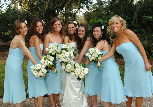 Blue Bridal Dresses Bridal Party in Blue Dresses