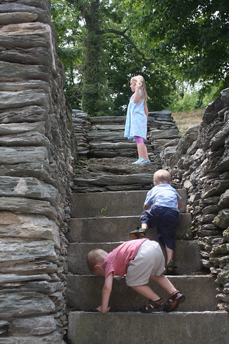 Climbing the stairs in WV