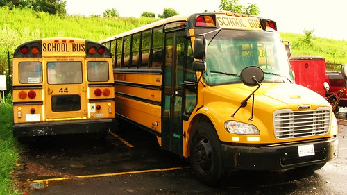 School buses. Glenview Illinois. August 4th, 2010. by Eddie from Chicago