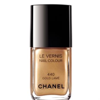 chanel gold lame nail polish wedding who says via DDD