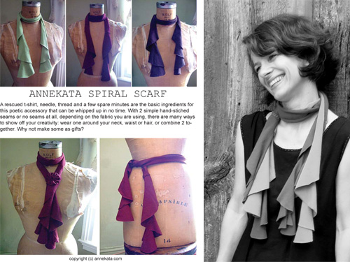 annekata Spiral Scarf - Pattern Release