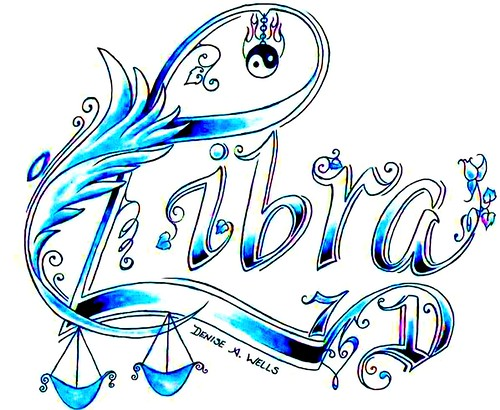 Libra Tattoo Design by Denise A. Wells