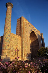 Madrasa of Ulugh Beg in Registan square, Samarkand, Uzubekistan (aygulmipo) Tags: travel photo madrasah muslim islam unesco oasis silkroad uzbekistan centralasia samarkand registan  worldheritage   samarqand uzbek     ulughbeg