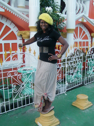 Abiola at Annandale Castle in Guyana