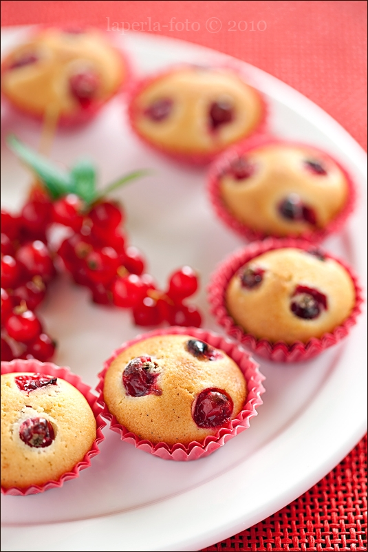 Madeleine with red currant and vanilla2