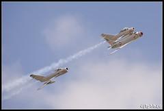 MiG Fury Fighters (djlpbb40) Tags: airshow airforce dogfight usaf tcm fury usairforce airforcebase mig15 northamerican mig17 mig15uti mikoyangurevich fj4 sblim2 fj4b pzlmielec ktcm jointbaselewismcchord mcchordairexpo2010 mcchordfield mcchordfieldairport migfury