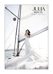 Sailing bride... (Nicophotography) Tags: wedding french photography bride coast boat sailing photographer taiwan marriage sail taipei mariage nico voilier saling mariee whitegown juliaweddingnews 5dii wwwjuliaweddingnewscom