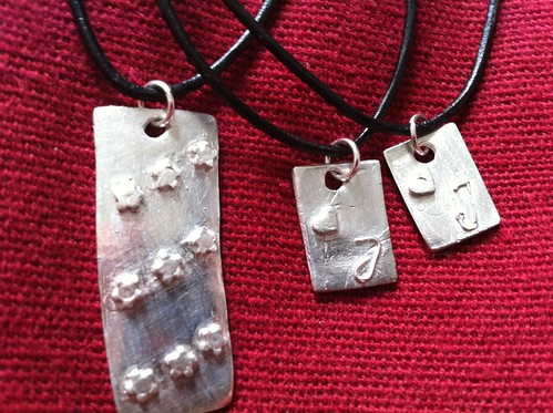Mina egentillverkade silversmycken