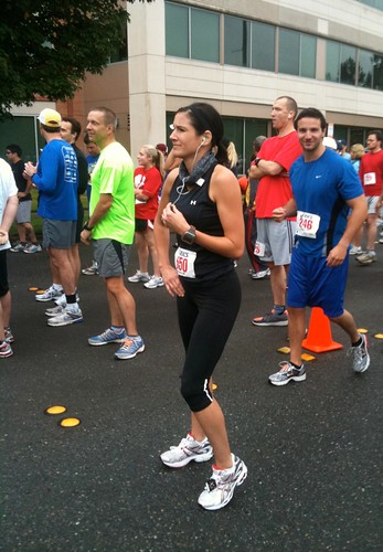 at the start line foot zone 5k race