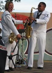 sax on fire! (davidfntau) Tags: music brass jaz mindilbeach ussmercyband