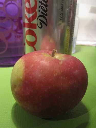 Soda ($1.25), apple