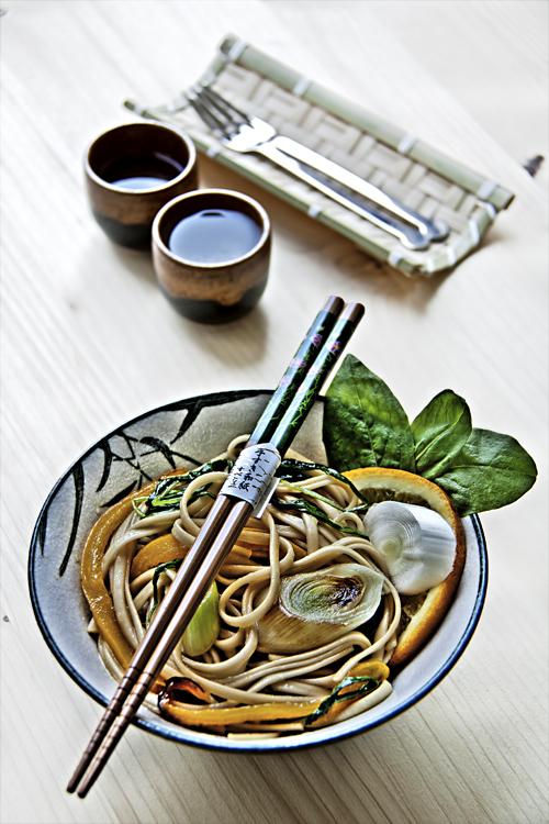 Udon con Radicchio Verde al profumo d'Arancia HDR