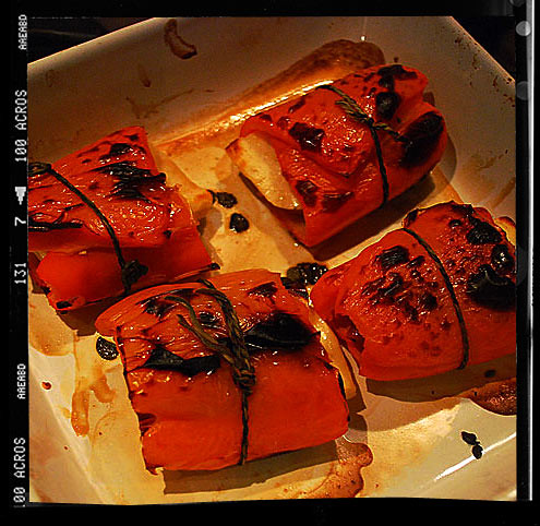 Halloumi Wrapped in Red Pepper