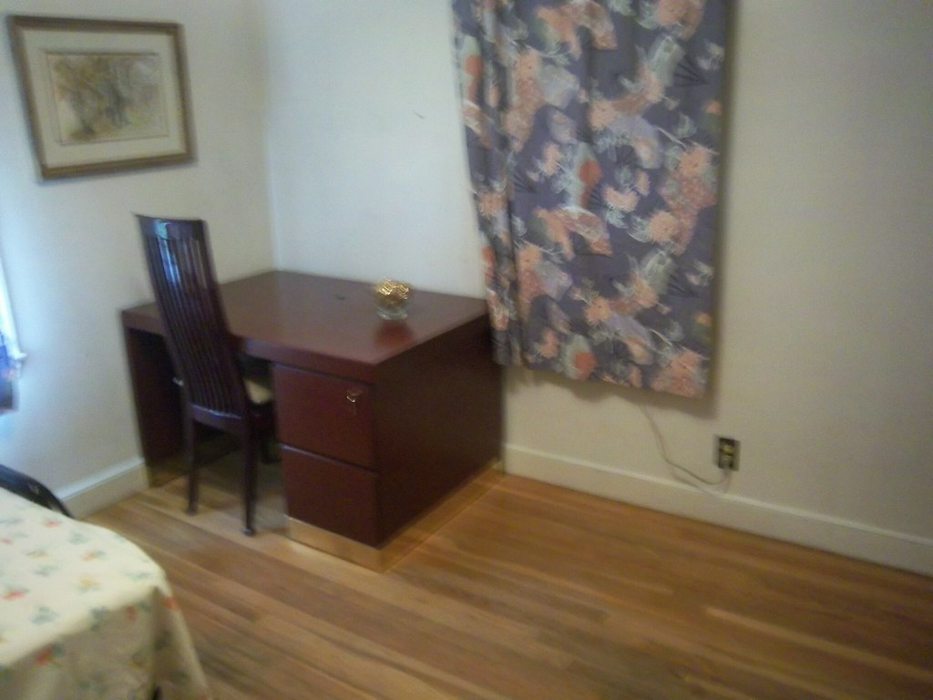Downstairs-Hardwood Desk, Windows, Picture, Outlets