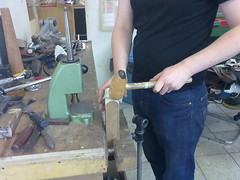 Final hammering on Anticlastic Bangle
