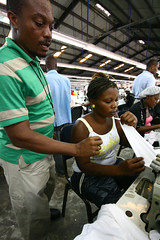 Graduate of USAID-funded garment training center in Haiti