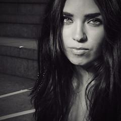 Layla (MrGlen) Tags: leica portrait woman london face square blackwhite eyes layla leicadlux4 emmalouiselayla