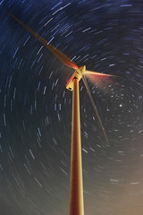 waiting for the perseids (wunderskatz) Tags: blue sky plant industry windmill night stars shower energy long exposure hungary industrial power wind trails clean trail friendly environment rotation safe protection eco meteor renewable windgenerator perseids windengine szapar