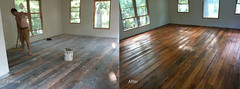 Heart Pine Floor- Before and After (RyanIsHungry) Tags: heartpine barnboard pinefloor reclaimedlumber