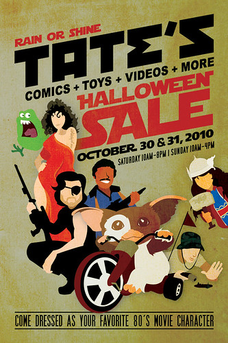 Tates Halloween Sale Flyer 2010