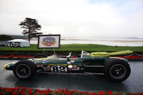 The logo and a 1965 Lotus