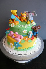 Winnie The Pooh Birthday Cake (CAKE Amsterdam - Cakes by ZOBOT) Tags: birthday wedding party feest cakes cake utrecht handmade paste sugar celebration pooh winniethepooh marzipan tigger piglet winnie figures stacked roo specialty heffalump fondant tiered taart taarten sweetthings zoegottehrer